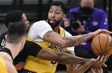 Anthony Davis fires Los Angeles Lakers to win over San Antonio Spurs