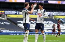 Late red card for Doherty as Kane and Son combine again in Spurs win over Leeds