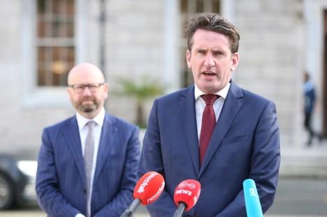 Labour's Ged Nash (L) and Aodhán Ó Ríordáin (R)
