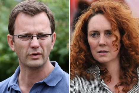 Andy Coulson and Rebekah Brooks.
