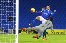 Aaron Connolly hits the net and goes off injured during six-goal draw between Brighton and Wolves