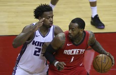 Rockets lean on Wall in Harden's absence and down Sacramento Kings
