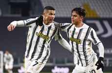 Ronaldo on the double for Juve as Serie A leaders AC Milan stretch unbeaten run to 27 games