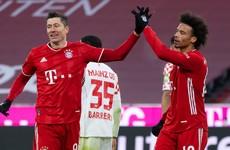 Prolific Lewandowski takes season tally to 22 as Bayern return to the top