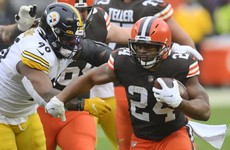 Browns end 19-year wait for NFL play-off spot while Ravens and Titans also advance