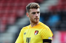 League One loan move for Ireland and Bournemouth goalkeeper Mark Travers
