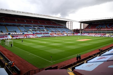 A general view of Villa Park.