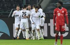 Bayern Munich squander two-goal lead in defeat to Borussia Moenchengladbach