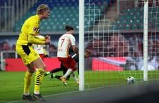 Haaland brace keeps Leipzig from taking top spot in Bundesliga