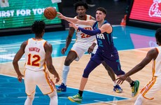 LaMelo Ball leads Charlotte over Atlanta with historic triple double