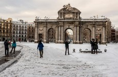 Spain shovels its way out of heavy snow dumped by Storm Filomena