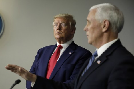 US President Donald Trump and Vice President Mike Pence