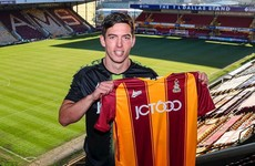 Ex-U21 international defender joins the Irish contingent at Bradford City