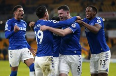 Goals from Keane and Iwobi help Everton maintain challenge for Champions League spot