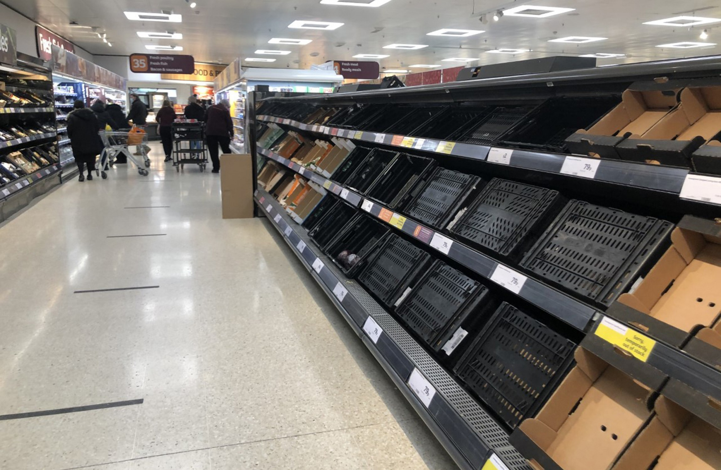 UK Supermarkets Call For 'Urgent Intervention' To Ensure Supplies To Northern Ireland