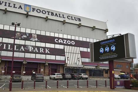 The Villa Park stadium.