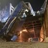 New York bus left hanging over bridge after crash