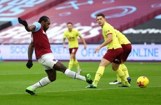 Early Michail Antonio goal lifts West Ham to victory over Burnley