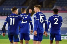 Goals from Maddison and Barnes help Leicester climb up to second