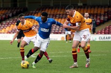 Stubborn Motherwell earn point against Rangers