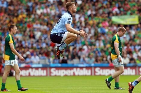 Paul Flynn of Dublin during the team parade on Sunday.