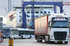 Volume of trucks arriving in Ireland is 50% lower than expected due to Covid restrictions and Brexit