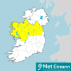 Rainfall warning in place from 9pm in 11 counties