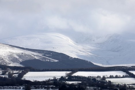 Leinster's highest mountain, Lugnaquilla in the Wicklow Mountains, covered in snow in February last year.