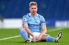 Man City talisman De Bruyne ruled out of key games against Liverpool and Spurs