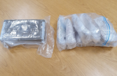 Two men arrested after gardaí seize €90,000 worth of cocaine and €64,000 in cash