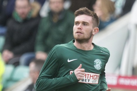 File photo: Stanton on Hibs duty during a Championship meeting with Rangers.