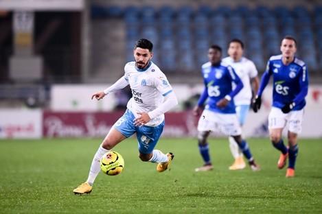 File photo: Morgan Sanson on the move for Marseille last year.