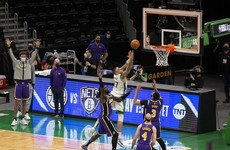 Dramatic finish in Boston as Lakers hold on for victory over Celtics