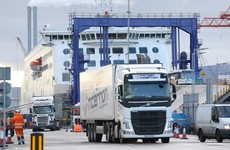 Freight between Ireland and UK dropped by half in January