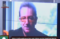 VIDEO: 'Hello housemates. This is your Irish rock star fan, Bono'