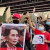 Thousands of people rally against military coup in Myanmar demanding release of Suu Kyi