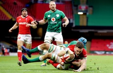 Ireland battle in Cardiff defeat but fail to overcome early O'Mahony red card