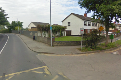 Station Road in Palmerstown, where this evening's fatal collision occurred.
