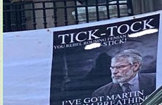 Banner threat to Gerry Adams being investigated as hate crime