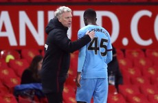 Irish youngster Odubeko thanks Moyes for 'lesson learnt' in United defeat