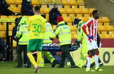 Promising Irish youngster Nathan Collins stretchered off in Stoke City defeat