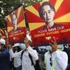 Fresh protests in Myanmar after junta cuts off internet, deploys troops