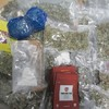 Cannabis, khat, and cocaine discovered inside packages marked as 'fishing bait' and 'sport shoes'