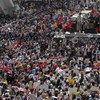 Largest demonstrations yet as thousands rally in Myanmar against military coup