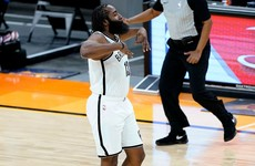 Harden scores 38 as the Nets leave it late against the Suns