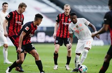 Leaders Bayern Munich lose at Frankfurt in Bundesliga