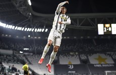 Ronaldo's first-half double keeps Juventus in title hunt