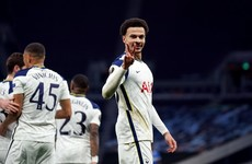 Watch: Stunning Dele Alli overhead kick the highlight of Tottenham win