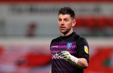 Experienced Irish goalkeeper set for spell on the sidelines