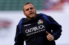 Italy team announced for Saturday's clash with Ireland